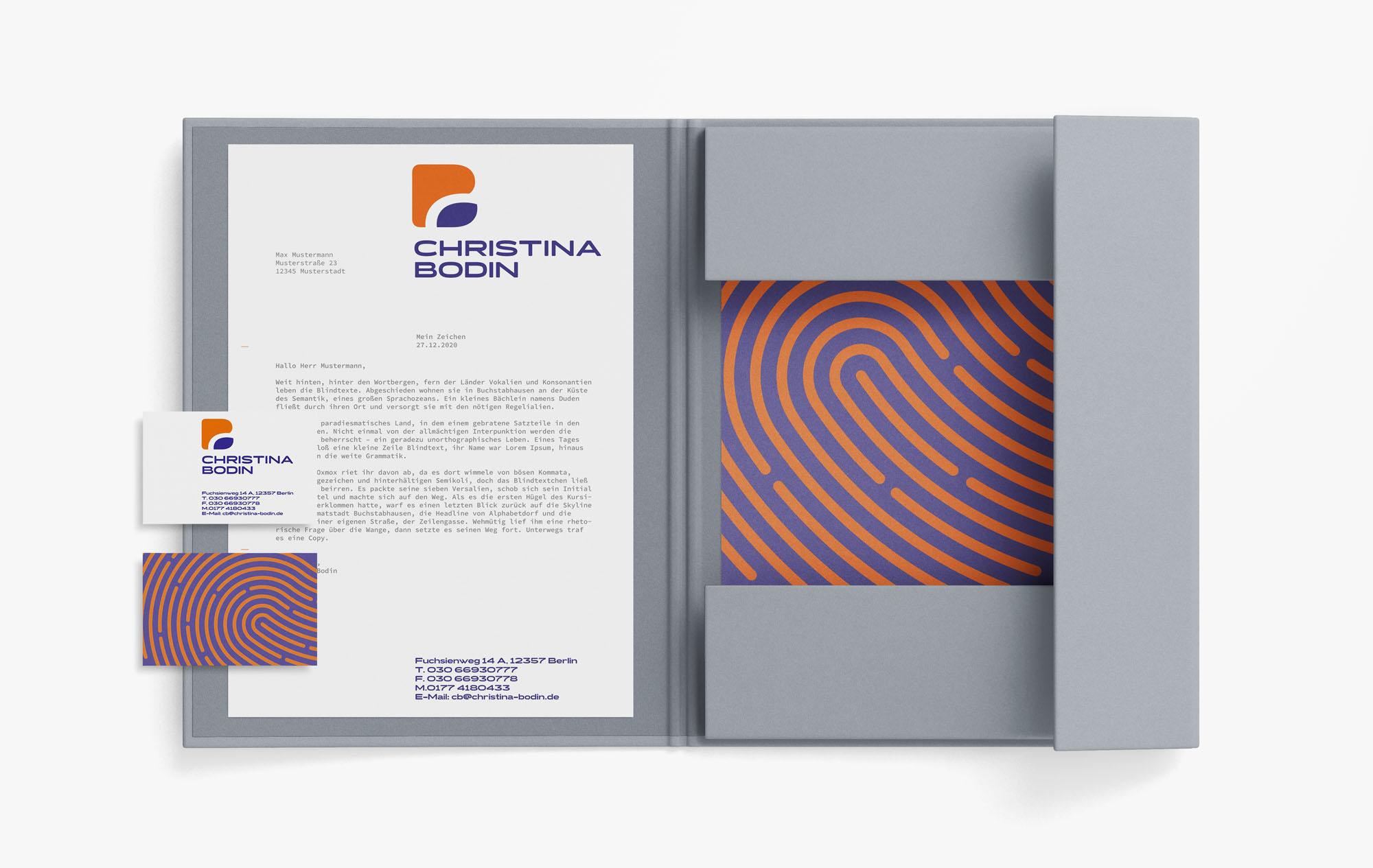 Corporate Design Personal Trainer Briefbogen und Visitenkarte