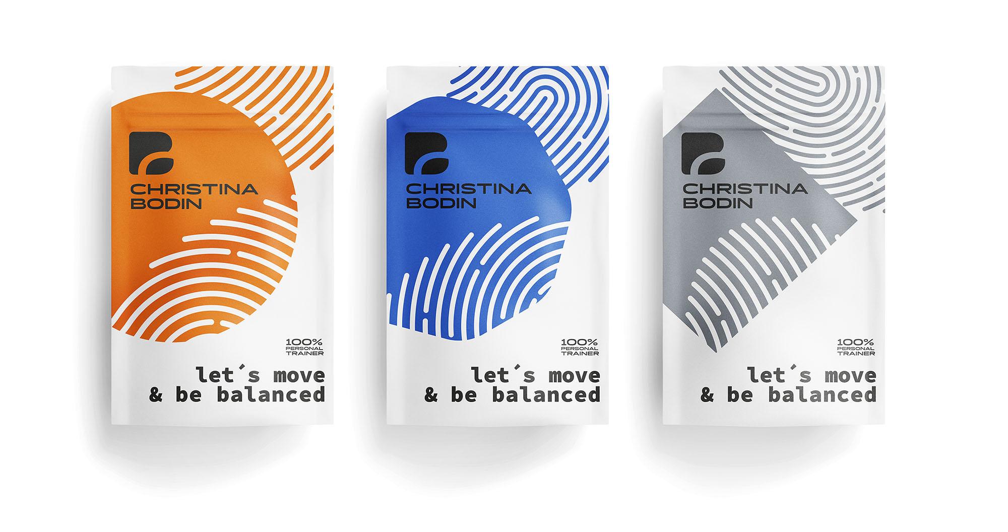 Corporate Design Logo Personal Trainer Solid auf Verpackungen