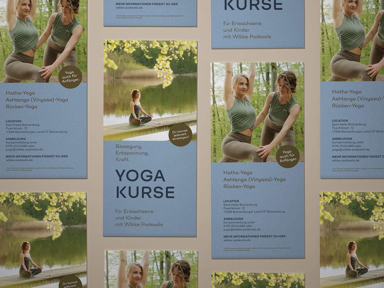 Design Flyer für ein Yoga Studio